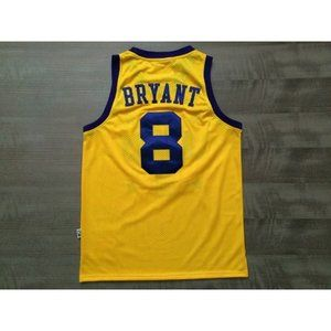 Los Angeles Lakers #8 Kobe Bryant Gold Jersey 2